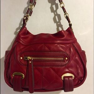 B. Makowsky red leather hobo handbag